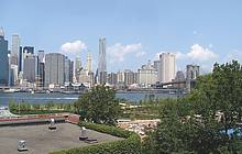 New Yorks Brooklyn Bridge Park vor der Fertigstellung